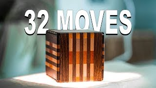 Solving The JAPANESE BINARY Puzzle Box!! - 32 Moves!