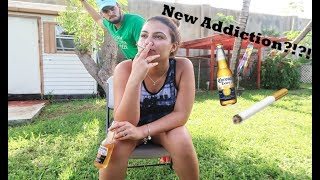 SMOKING CIGARETTE PRANK ON BOYFRIEND!!!