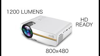 """ARTLII LED Portable Mini Video Projector - Play PS4, Watch Movies on BIG 130"""" screen"""