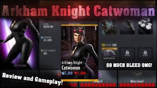 Arkham Knight Catwoman Review! Injustice Gods Among Us 2.9! IOS/Android