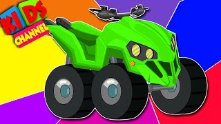 Quad bike | learn colors with vehicles | children's video