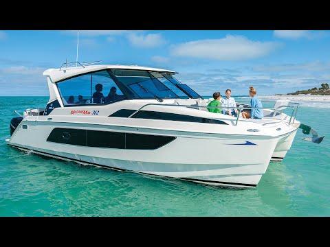 Tour the All New MarineMax Vacations 362 Power Catamaran