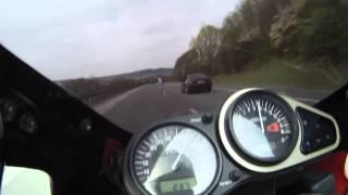 Kawasaki ZX 6 R Ninja - 1998 - 0-100-200(0-60mph) Speed test - Beastvision