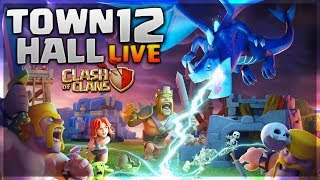 GEMMING THE TOWN HALL 12 LIVE CLASH OF CLANS•FUTURE T18