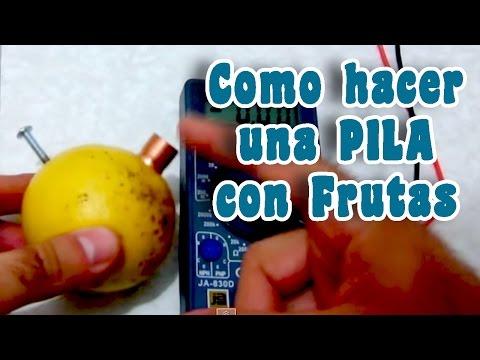 Como hacer una batería con frutas│ Experimento Fácil