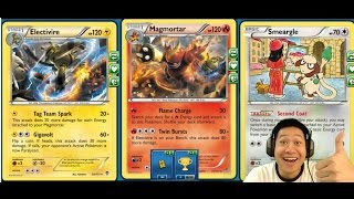Fire and Lightning Magmortar / Electavire Heavy Hitting Combo Deck with Breakthrough Expansion Tech