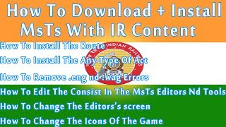 How To Download MSTS Game With Indian Railways - In HD