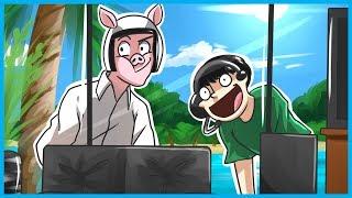 Garry's Mod Prop Hunt Funny Moments! - WILDCAT & Nogla Window Creepin, Haunted Fish, and More!