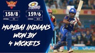 IPl 2017 : Mumbai Indians vs Sunrisers Hyderabad Highlights | MI vs SRH 2017 Highlights | NH9 News