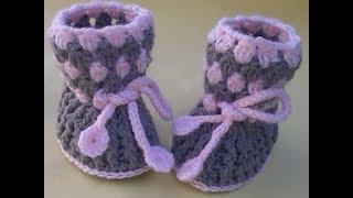 how to crochet baby Booties tutorial