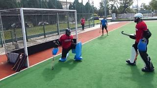 Hockey India goalkeeper training Part 1 of 4