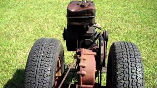 1955 David Bradley walk behind garden tractor  test drive