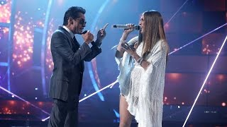 Watch Jennifer Lopez and Marc Anthony Share a Kiss on Stage at Latin GRAMMYs!