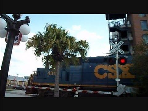 CSX Train Breaks Down Crossing Gates Malfunction