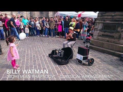Young Kid Busking Bohemian Rhapsody Classical Guitar Billy Watman
