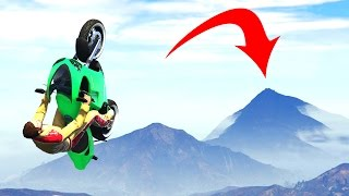 EXTREME MILE HIGH BIKE JUMPS! (GTA 5 Funny Moments)