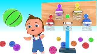 Learn Colors for Children with Little Baby Play BasketBalls 3D Games Kids Educational Video