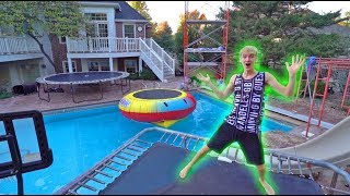 WORLDS GREATEST BACKYARD SETUP!! *WATER TRAMPOLINE*