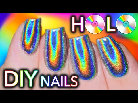 100 PURE HOLO holographic NAILS GEL and NO GEL POLISH