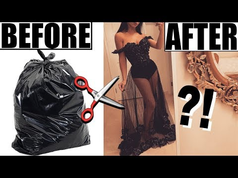 Xxx Mp4 MAKING A DRESS OUT OF TRASH BAGS 3gp Sex
