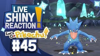 ✨SHINY GOLDUCK LIVE REACTION✨ || KANTO LIVING DEX #45 - Pokémon LGPE