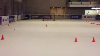 Ice hockey drill #ashishiskate #india