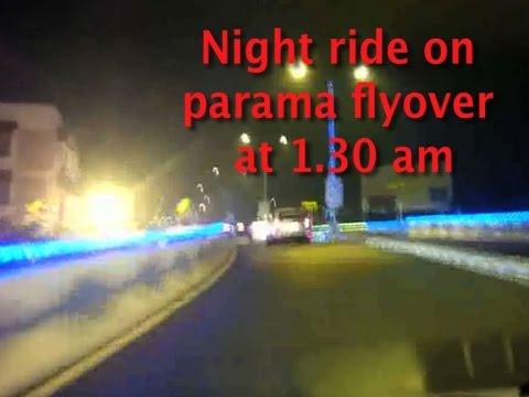 Night drive on parama island(longest flyover) in Kolkata