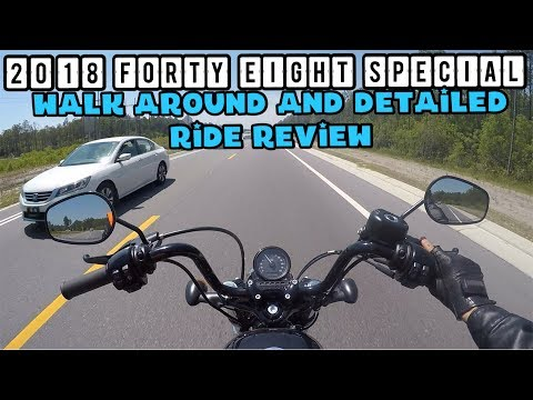 2018 Harley Davidson Forty Eight special detailed ride review and walk around