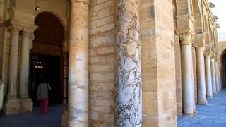 inside the Great Kairouan mosque HD