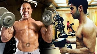 WWE Batista's Openly CHALLENGES Varun Dhawan For Pull-Up Match