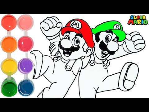 Xxx Mp4 How To Draw Amp Color Mario Amp Luigi Bros Drawing Nintendo Amp Learning Kids Toddlers Learn Colors HD 3gp Sex
