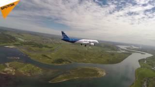 اولین پرواز آزمایشی هواپیمای مسافربری روسي ام سی 21 در ایرکوتسک