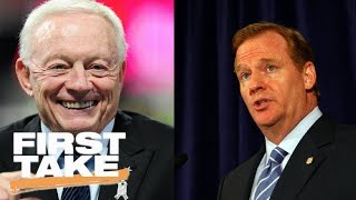 First Take reacts to Jerry Jones and Roger Goodell in a