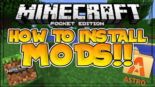 How to Install MODS in MCPE!! - 3 DIFFERENT TUTORIALS - Minecraft PE (Pocket Edition)