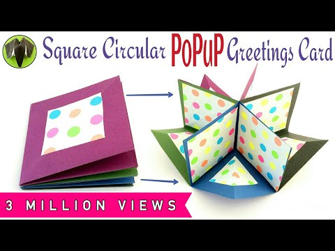 Xxx Mp4 Square Circular Popup Greeting Card DIY Tutorial By Paper Folds ❤️ 3gp Sex