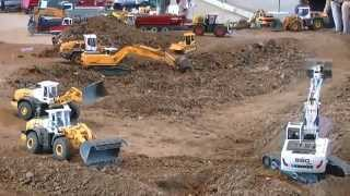 RC CONSTRUCTION SITE,RC LIEBHERR 960 AT WORK