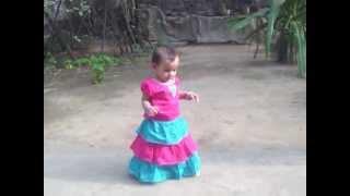 Cute baby Jhiri 1st walking in kuril, Dhaka, BD.