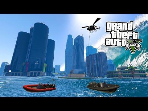 GTA 5 PC Mods TSUNAMI MOD SURVIVING & EXPLORING GTA 5 Tsunami Mod Gameplay GTA 5 Mods Gameplay