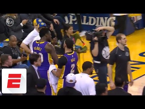Lonzo Ball steps in as Julius Randle Isaiah Thomas get into heated exchange ESPN