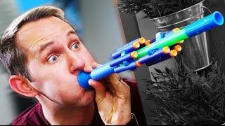 NERF Blow Gun Challenge