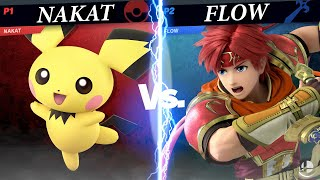 Nakat (Pichu) vs Flow (Roy) Losers Semifinals - Ultimate Wanted France Smash Tournament