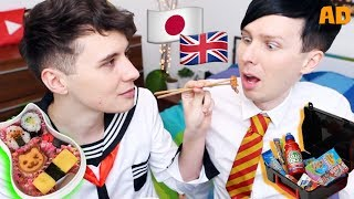 UK vs JAPAN School Lunches! with Dan and Phil