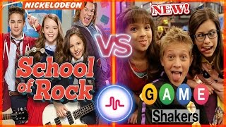 School Of Rock VS Game Shakers Musical.ly Battle | Famous Nickelodeon Stars New Musically