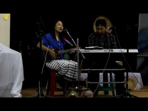 mapuii and joseph 'khawvel hi bo mahse' with ukulele