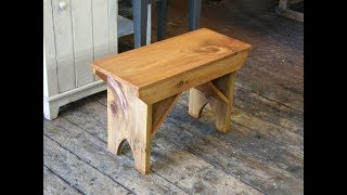 Making A Simple Pine Bench for Cheap Woodworking Xmas Gift