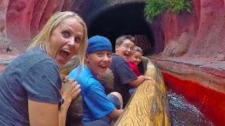 KIDS FIRST ROLLER COASTER RIDE DISNEYLAND MADNESS!!