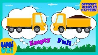 Umi Uzi | Opposite Song | Learn Opposites with Vehicles | Nursery Rhymes | Children