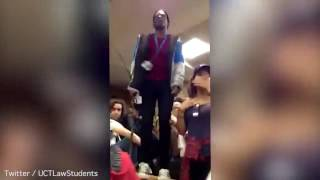 Ntokozo Qwabe hits phone out of student's hand with stick
