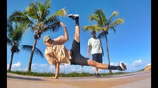 B.boy JonasFlex e Invictus BREAKDANCE IN BEACH 2017 AWESOME PEOPLE