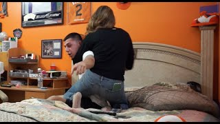 CAUGHT CHEATING ON GIRLFRIEND PRANK GONE WRONG! (SHE CHOKED ME)